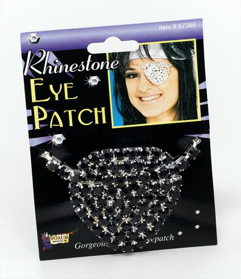 Eyepatch. Black Rhinestone