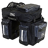 M-Wave Traveller Triple Pannier Inc. Reflective Detachable Top Bag
