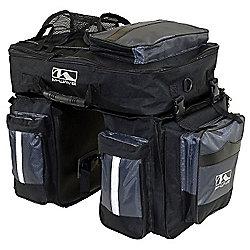 M-Wave Traveller Triple Pannier Inc. Reflective Detachable Top Bag