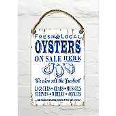 Martin Wiscombe Oysters On Sale Here Decorative Wall Sign
