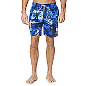 Speedo Tropical Print Swim Shorts - Blue