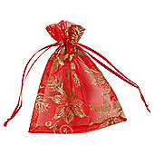Red Poinsettia Christmas Bags, 3 pack