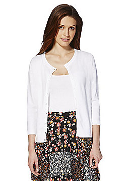 F&F Stretch Cardigan with As New Technology - White