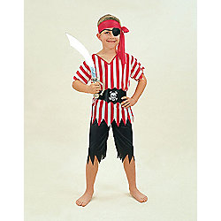 Bristol Novelty - Pirate Boy - Child Costume 9-10 years