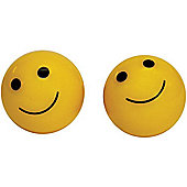 Weldtite Smiley Valve Caps in Yellow (card of 2)