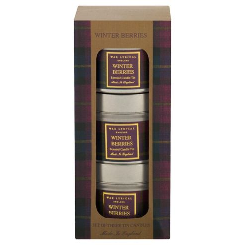 Wax Lyrical Heritage Tins Set of 3
