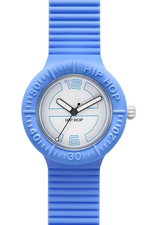 Hip Hop Unisex Large Hamptons Blue Strap Watch HWU0123