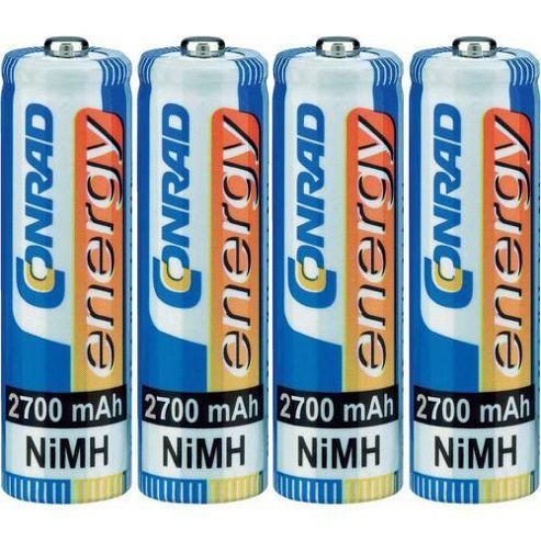 Conrad 251020 AA Rechargeable Battery 1.2V NiMH 2700mAh