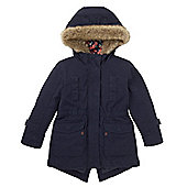 Mothercare Young Girl's Navy Parka Jacket Size 18-24 months