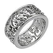 IT Diamonds Rhodium CHANTILLY Diamond Openwork Floral Butterfly Ring