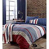 Catherine Lansfield Home Kids Stars And Stripes  Bed Quiltset - Multi