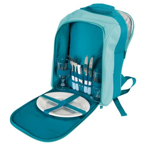 Tesco 2 Person Picnic Basket Backpack Set