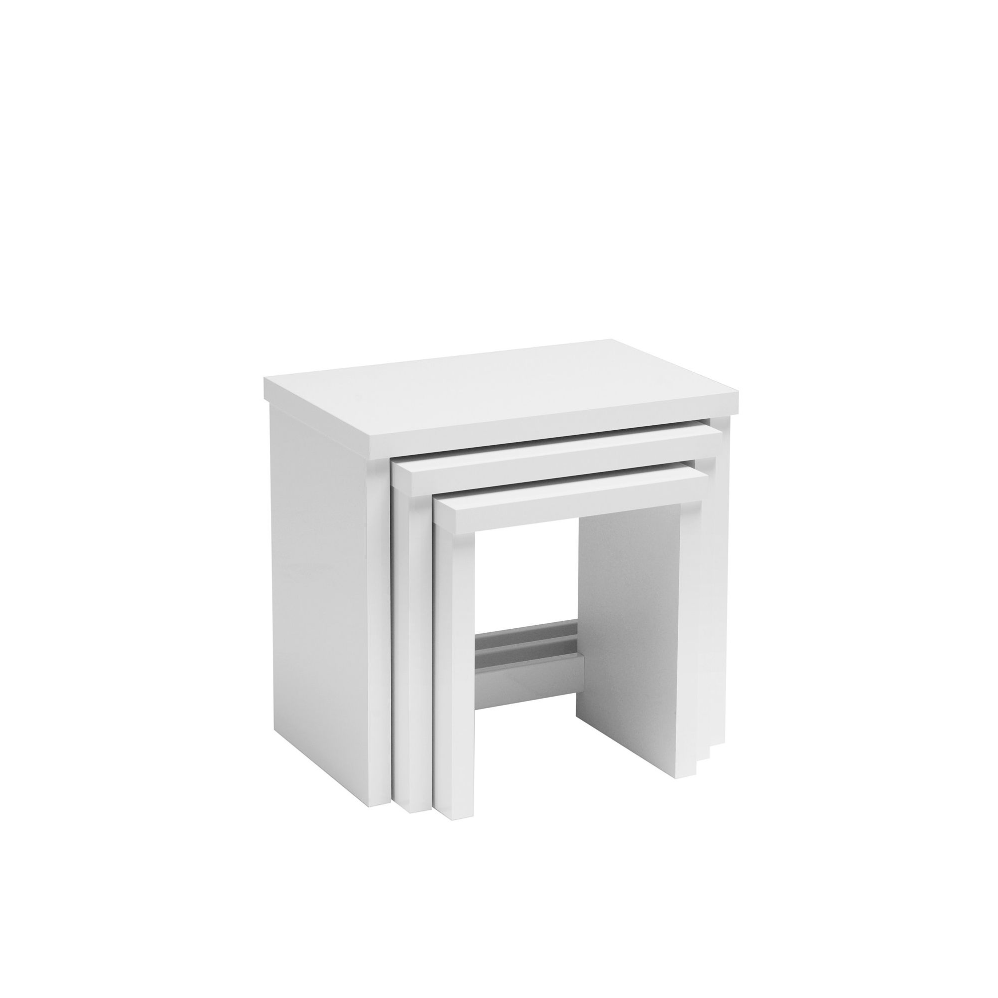 Caxton Manhattan Nest of Tables in White Gloss at Tesco Direct