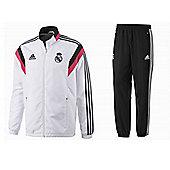 2014-15 Real Madrid Adidas PES Tracksuit (White) - White