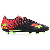 adidas Messi 15.3 FG Firm Ground Mens Football Soccer Boot Black/Red - Black