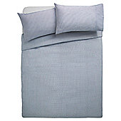 Tesco Basic stripe duvet set -blue KS