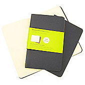 Moleskine Cahier Plain Pocket 3 Pack Blue Cover
