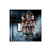 De Majo Ninfa Di Noto Chandelier with Shade - Chrome - Black