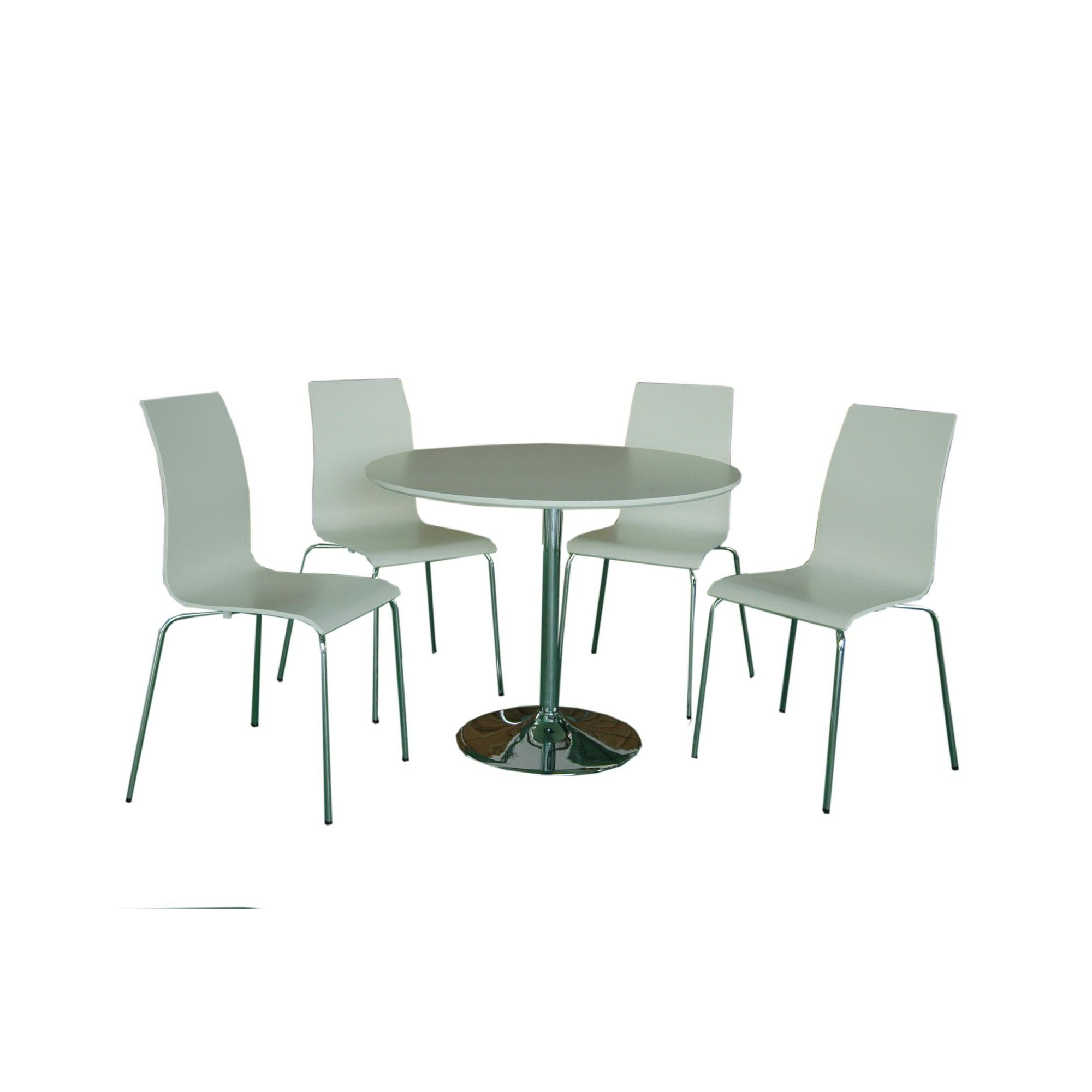 Home Zone Hoxton Five Piece Dining Set - White at Tesco Direct