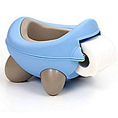 Kids Kit Baby Bug Potty - Blue & Grey - built in toilet roll