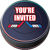 Ice Hockey Invitation Cards (8pk)