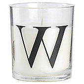 Sweet Vanilla Alphabet Candle Letter W