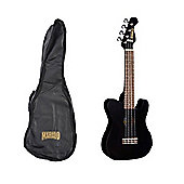 Mahalo Telecaster Ukulele including Cover - Black