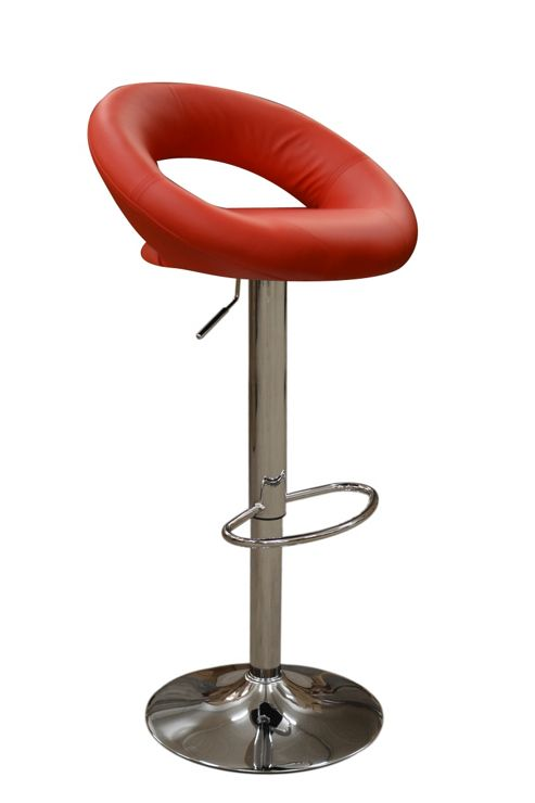 Eclipse Red Faux Leather Swivel Bar Stool