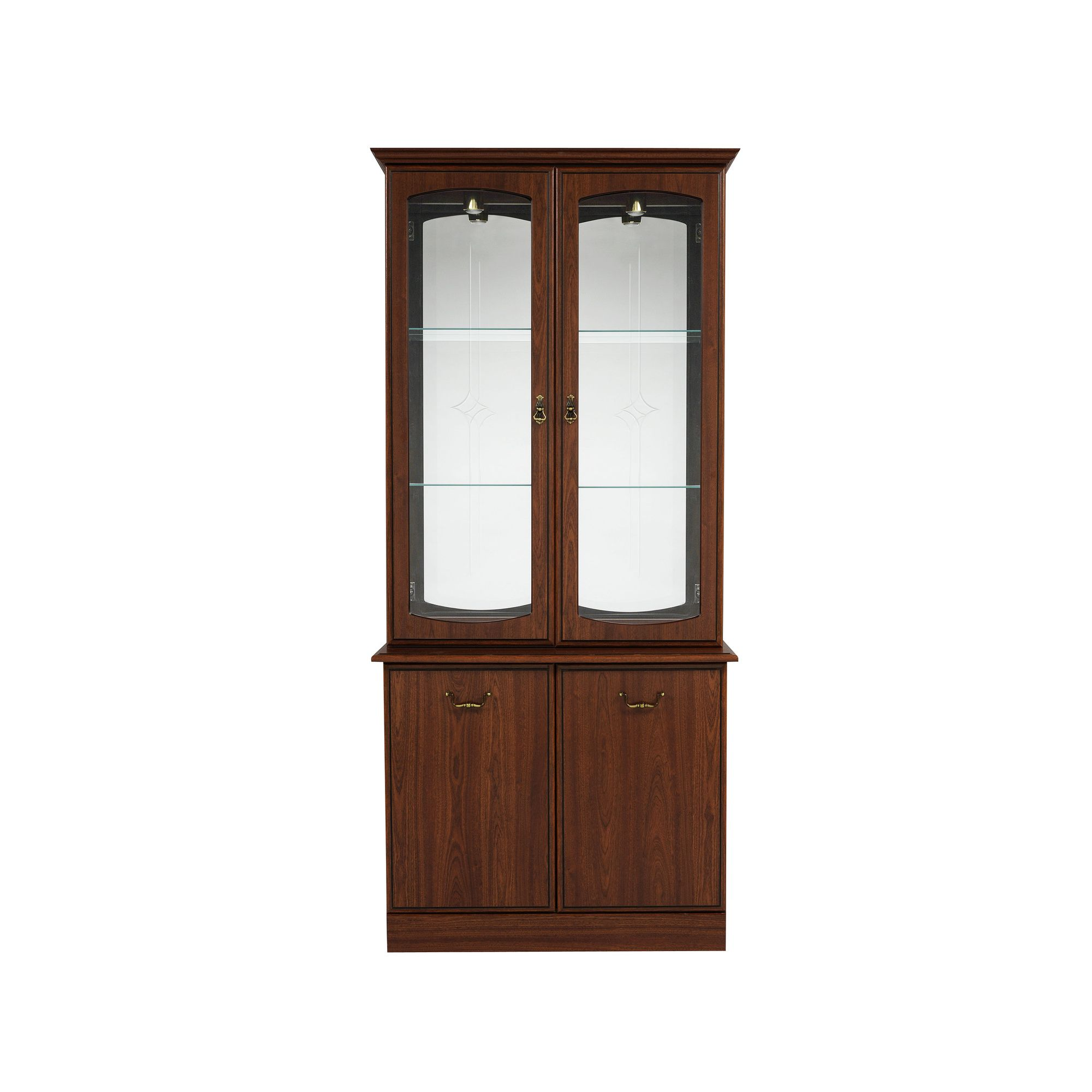 Caxton Byron 91 cm Display Cabinet in Mahogany at Tesco Direct