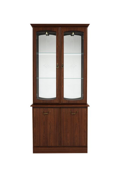 Caxton Byron 91 cm Display Cabinet in Mahogany