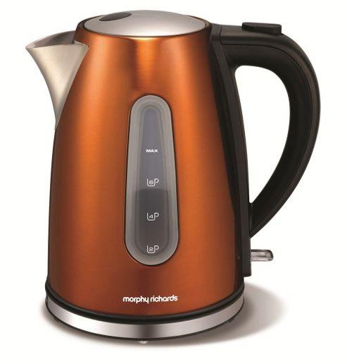 buy morphy richards 102601 accents copper jug kettle 1. Black Bedroom Furniture Sets. Home Design Ideas