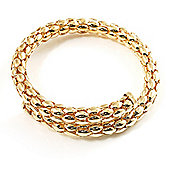 Rope Style Flex Bangle Bracelet (Gold Tone)