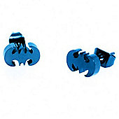 Urban Male Electric Blue Stainless Steel Bat Design Stud Earrings 7mm