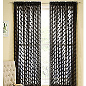 Fairmont Rod Pocket Voile Panel - Black