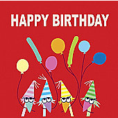 Holy Mackerel Greetings Card- It's a party, birthday card
