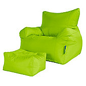 Big Bertha Original™ Giant Armchair Bean Bag & Footstool Set - Lime