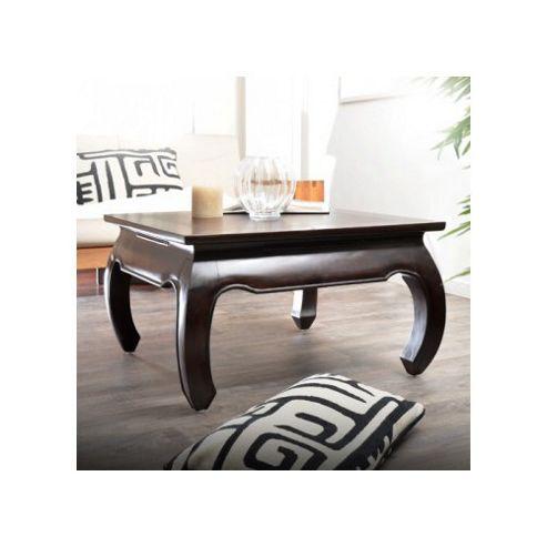 Tikamoon Opium Aka Mahogany Coffee Table - 45cm H x 80cm W x 80cm D