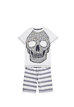 F&F Aztec Skull Shorts Pyjamas - Multi