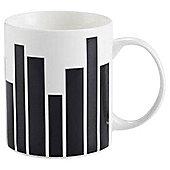 Tesco Graduated Stripe Mug Single black
