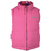 Junior Padded Reversible Gilet - Pink