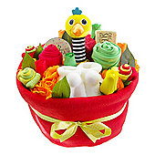 Bright Baby Nappy Cake Bouquet Arrangement