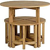 Corona Stowaway Dining Set - Solid Pine - Distressed Waxed Finish