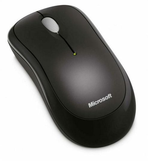 Microsoft 1000 Mouse - Optical - Wireless - 3 Button(s) - Radio Frequency - USB - 1000 dpi - Scroll Wheel - Symmetrical