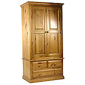 Kelburn Furniture Pine Gents Small Wardrobe