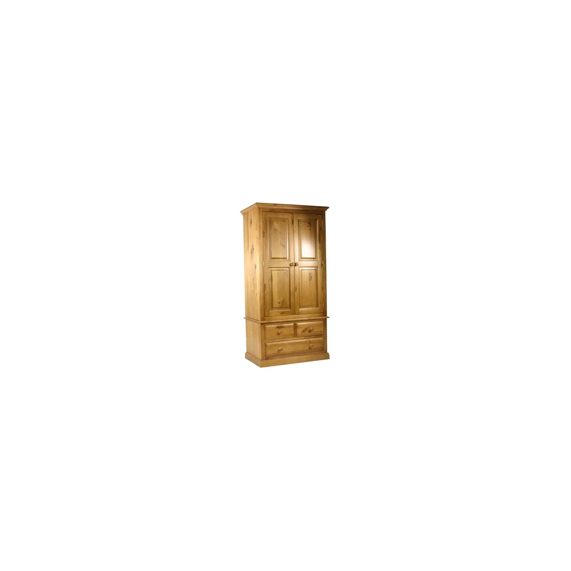 Kelburn Furniture Pine Gents Small Wardrobe in Antique Wax Lacquer at Tesco Direct