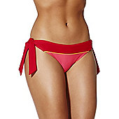 Curvy Kate Bon Voyage Side Tie Bikini Briefs - Red
