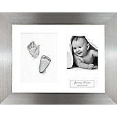 3D Baby Casting Kit - Pewter Frame - Silver Paint