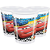 Disney Cars Cups - 200ml Plastic Party Cups, Pack of 8