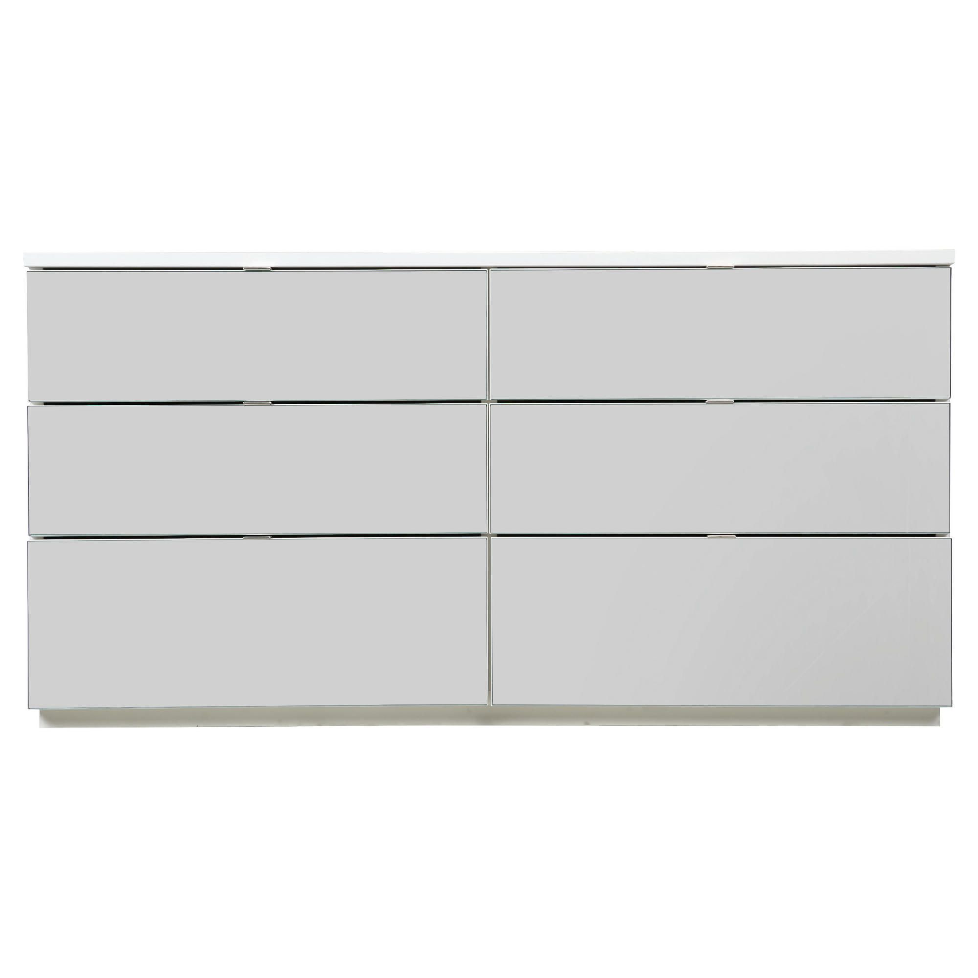 Palermo 6 Drawer Wide Chest White Mirrored at Tesco Direct