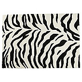 Zanizibar Rug 120x170 Black/White